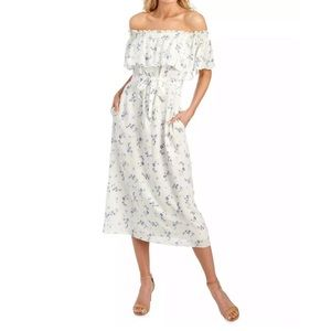 Rebecca Taylor Francine Off Shoulder Midi Dress